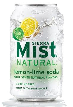 Sierra Mist Natural now includes sugar instead of high fructose corn syrup.