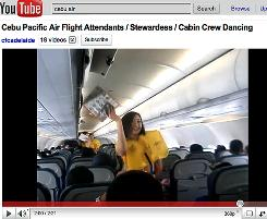 Cebu Pacific Air flight attendants put the preflight safety check to music in this popular YouTube video.