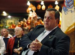 "Chris Christie: ""I don't believe that in an economy where you're shedding private-sector jobs that you raise taxes on the private sector. That's just counterintuitive. Unemployment at 9.6% is intolerable."""