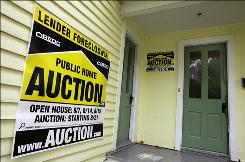 A foreclosed home in Chagrin Falls, Ohio. Foreclosures across the nation are up in the air because of possibly faulty court papers.