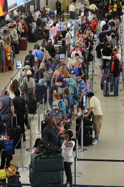 Flight delays cost fliers nearly $17 billion in 2007.