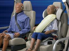 Ford's rear inflatable seat belts will launch on the 2011 Explorer. The advanced restraint system is designed to help reduce head, neck and chest injuries for rear seat passengers.