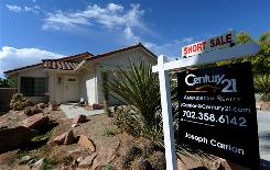 A home site for sale in Las Vegas. Las Vegas was one of five cities to show montthly price increases.