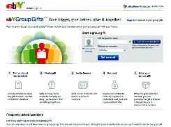 EBay's new service is intended to make it easier for a group to buy gifts using social networks and e-mail contacts.