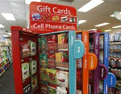 A gift card kiosk is shown at a CVS/Pharmacy In New York on Tuesday, Dec. 22, 2009.