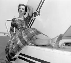 Leona Gage Ennis at Washington National Airport in 1957.