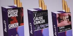 These are among the proposed warning graphics that will appear on cigarette packaging as part of the government's new tobacco prevention efforts.
