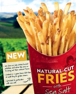 Wendy's natural-cut sea salt fries