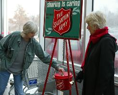 Every holiday season, Salvation Army volunteers ring the bell near donation pots to raise funds for charitable projects.