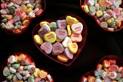 Necco also makes Sweethearts Conversation Hearts.