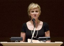 "Author and editor Tina Brown speaks at ""The Time of His Life"", A Celebration of the Life of Norman Mailer tribute Wednesday, April 9, 2008 at Carnegie Hall in New York."