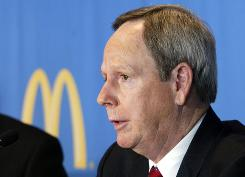 Jim Skinner Chairman of McDonald's, addresses the media in this file photo.