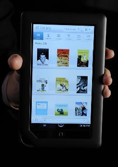 Nook Color: New Barnes and Noble e-reader has a color touch-screen.