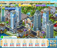 CityVille: Players of the game get to create cities from the ground up.
