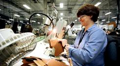 Bean boots are made at L.L. Bean's manufacturing facility in Maine.