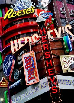 Hershey's Times Square candy store is shown in 2005 in New
