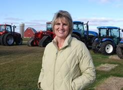 "Sherry Wuebben of St. Joseph Equipment in La Crosse, Wis. ""We're feeling a lot more comfortable,"" Wuebben says."