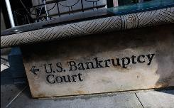 A sign outside U.S. Bankruptcy Court in Manhattan.