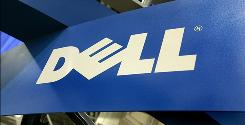 The Dell logo displayed in a Salt Lake City.
