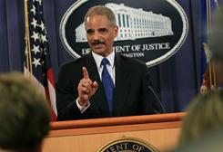 Attorney General Eric Holder didn't say what the investigation was of but that it is very serious.