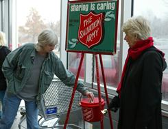 Every year, volunteers ring the bell for the Salvation Army as they collect donations in the traditional red kettle during the charity's annual holiday fundraising drive.