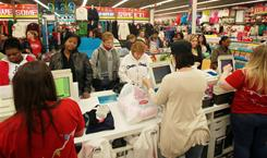 Research shows that 16.3% of shoppers paid with a credit card during the Black Friday weekend.