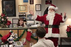 Your office may not get a visit from Santa Claus, like Dunder Mifflin does in Thursday's episode of the Office, but more companies are throwing holiday parties this year.