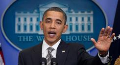 Defending compromise: President Obama speaks during a press conference at the White House on Dec. 7, 2010, after reaching a deal with congressional Republicans on tax cuts. 