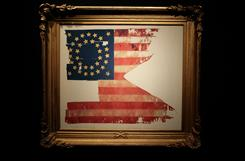 """Custer's Last Flag"" will be sold Friday by Sotheby's auction house in New York City."