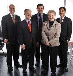 Our annual investment roundtable this year includes (left to right): Richard Bernstein, CEO and chief investment officer of Richard Bernstein Advisors; David Bianco, chief equity strategist of Bank of America Merrill Lynch; Bob Doll, chief equity strategist of BlackRock; Abby Joseph Cohen, senior investment strategist and president of Goldman Sachs' Global Markets Institute; and Dan Chung, CEO and chief investment officer of Alger Funds' Fred Alger Management.