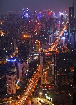 Fast-growing Shenzhen, China, near Hong Kong.