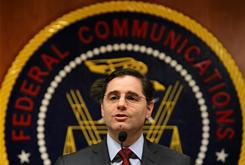 Federal Communications Commission Chairman Julius Genachowski speaks to the media on the importance of net neutrality Dec. 1, 2010.
