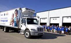 Walmart ran in-store food drives in November and is donating money and refrigerated food trucks to food banks.