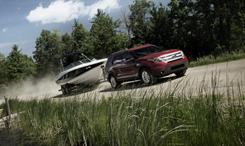 Because of its new unibody construction, the 2011 Ford Explorer has lost 2,100 pounds of towing capability. A V-6 Explorer can tow up to 5,000 pounds.
