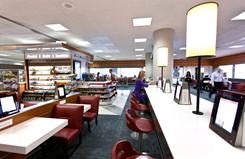 Bar Brace, a casual Italian restaurant, has been built in the seating area of Gate 15 in Terminal 3 at New York's JFK airport.