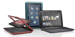 The Dell Inspiron Duo is a netbook that converts into a touch-screen tablet.