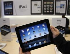 Shares of Apple continue to grow as investors are confident customers will continue to buy iPads, iPhones and PCs.