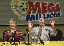 Jim and Carolyn McCullar of Ephrata, Wash., bought a winning Mega Millions ticket.