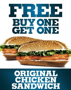 Burger King is now offering two-for-one chicken sandwiches.