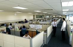 Employees work at one of Accenture's 13 delivery centers in the Philippines, which services clients around the world.