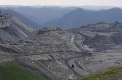 This file photo shows mountaintop coal mining at Kayford Mountain, W. Va. in 2007.