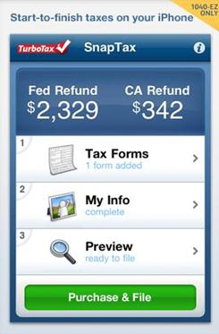 TurboTax tested its new mobile app for filing taxes last year in California, where it was limited to state tax returns.