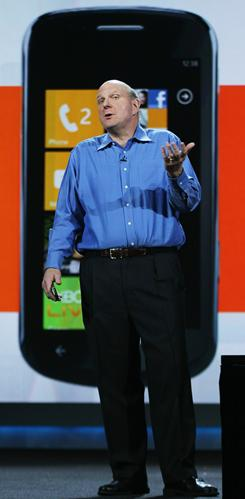 Microsoft CEO Steve Ballmer speaks at the 2011 International Consumer Electronics Show in Las Vegas on Jan. 5.