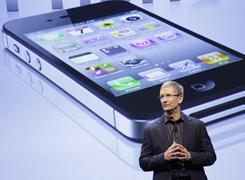 Tim Cook, Apple COOe, announces that Verizon Wireless will carry Apple's iPhone, Jan. 11, 2011.