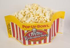 Consumers want their products convenient and simple. Orville Redenbacher Popcorn is rolling out the Pop Up Bowl, microwave popcorn that pops into a round serving bowl.