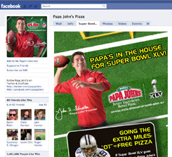 Papa John's is not advertising during the Super Bowl this year and instead is focusing on a promotion that gives a free, large pizza to every person signing up for the brand's online loyalty program and if the Super Bowl goes into its first-ever overtime.