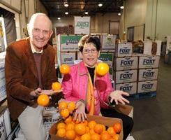 Peter Clarke and Susan Evans worked for years to help food banks distribute fresh produce.