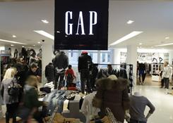 Shoppers in a Gap store in downtown Seattle.