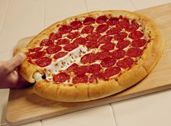 Pizza Hut's Stuffed Crust pizza.