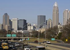 The Charlotte skyline on Jan. 29, 2009. The Democratic National Committee has announced it will hold its 2012 convention in Charlotte.